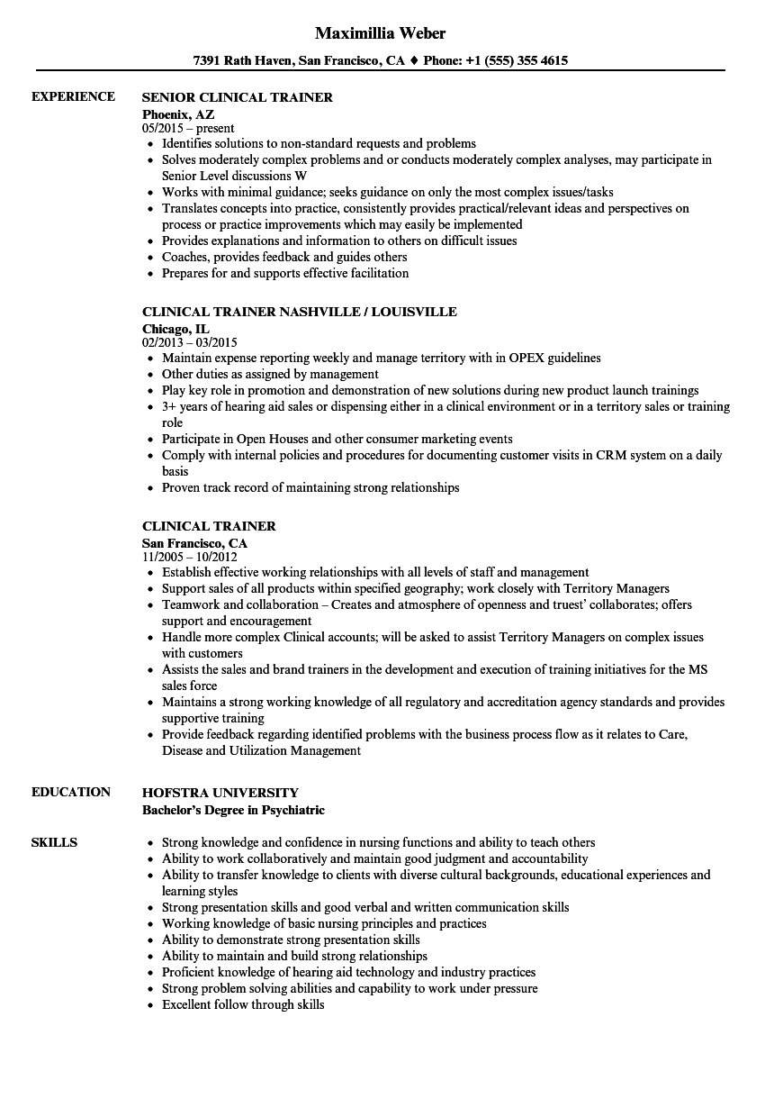 Clinical trainer resume samples velvet jobs download clinical trainer resume sample as image file 1betcityfo Gallery