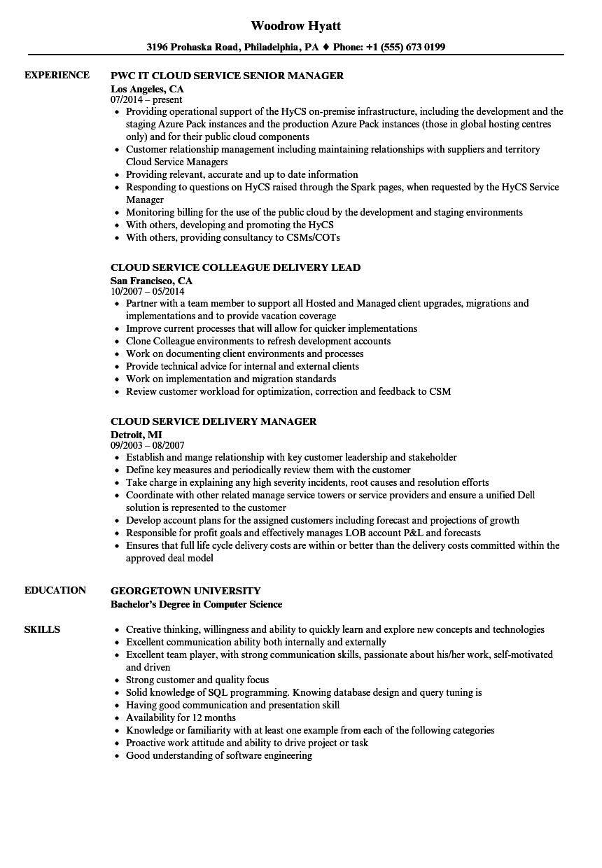 cloud services developer resume june 2020
