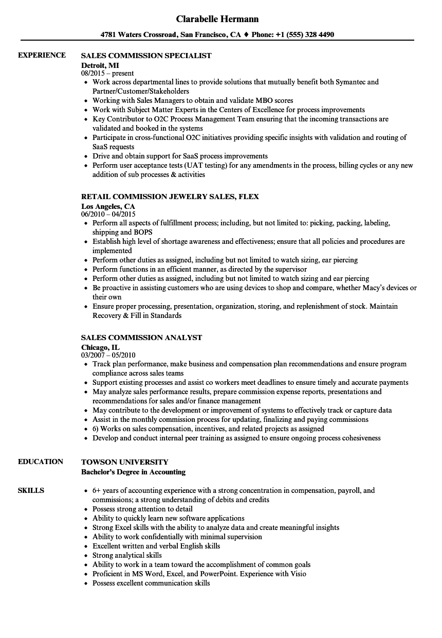 resume for commissioned sales associate - nordstrom