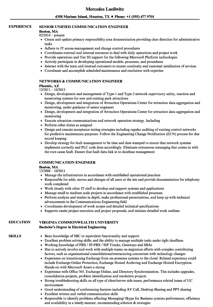 Download Communication Engineer Resume Sample As Image File  Communication Resume Skills