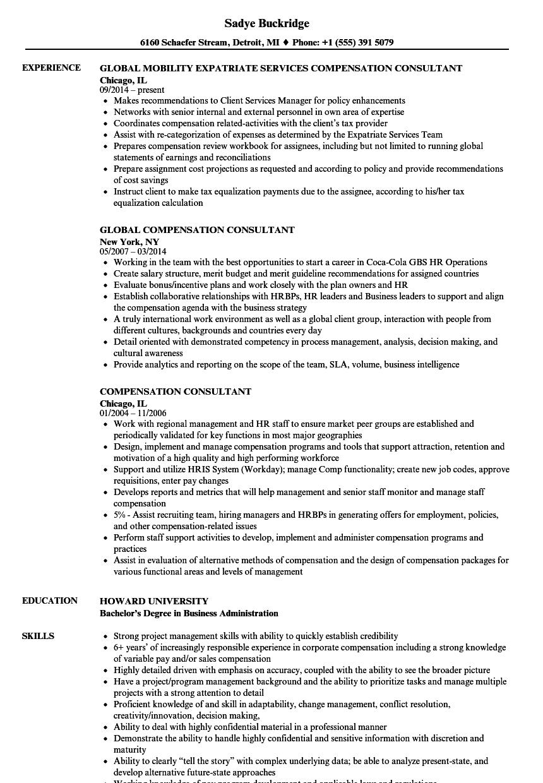 Compensation Consultant Resume Samples | Velvet Jobs
