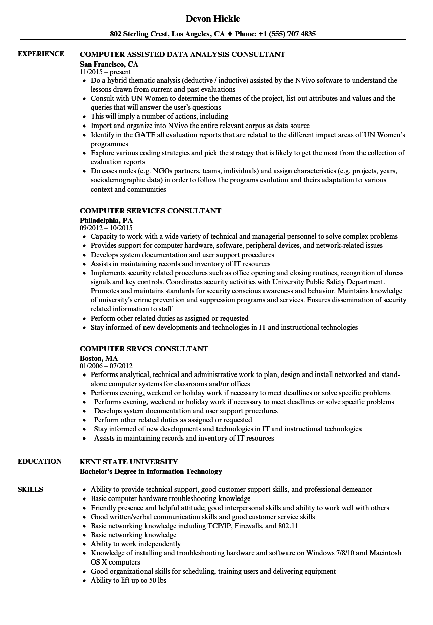 Download Computer Consultant Resume Sample As Image File   Computer Consultant  Sample Resume