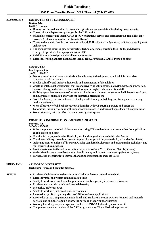 Velvet Jobs  Resume Computer Science