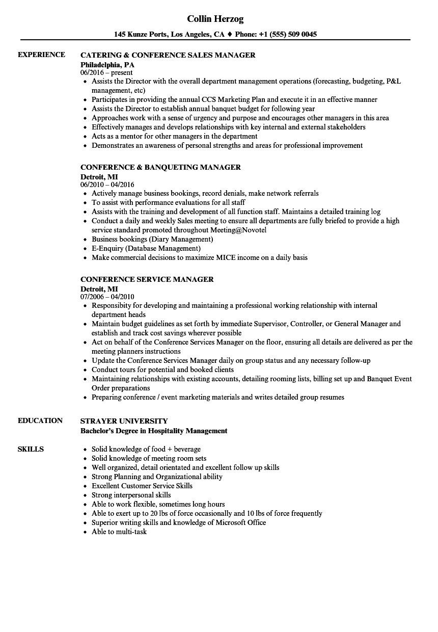 download conference manager resume sample as image file - Conference Manager Sample Resume