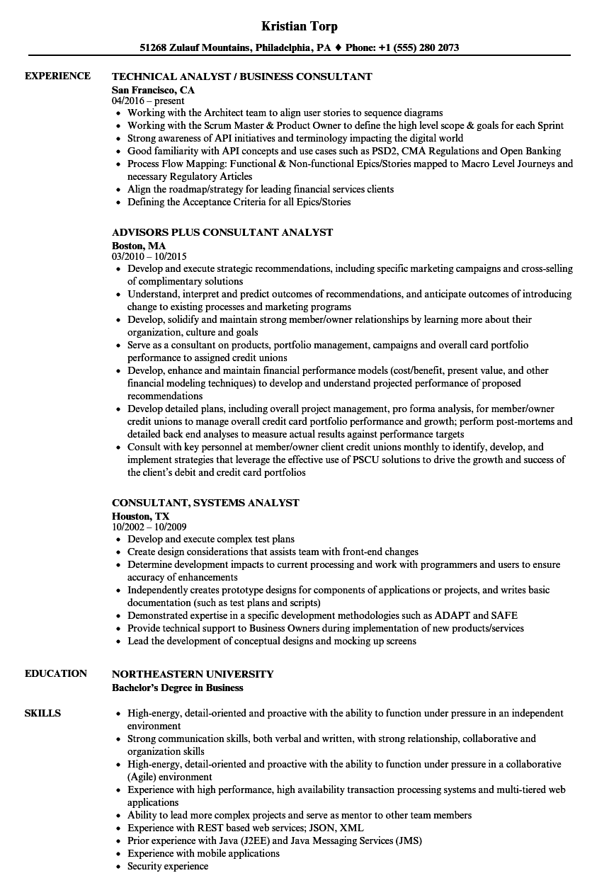 download consultant analyst resume sample as image file - Data Visualization Resume
