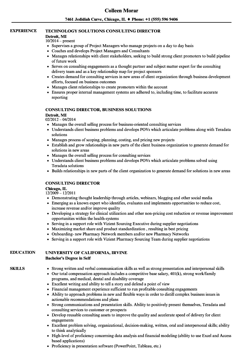 related job titles consulting analyst resume sample - Resume Examples For Job