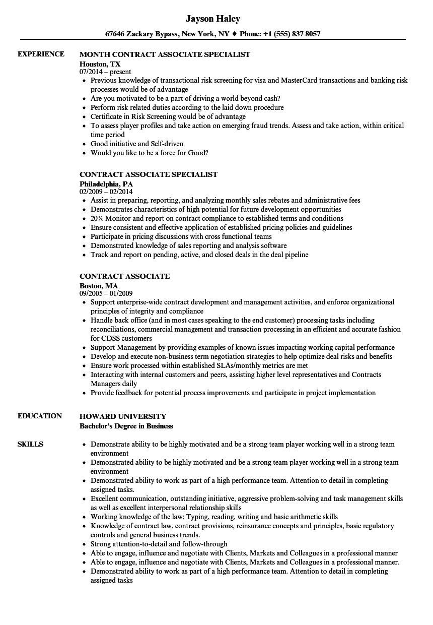 Lovely Contract Job Resume Sample Pictures Inspiration - Entry Level ...