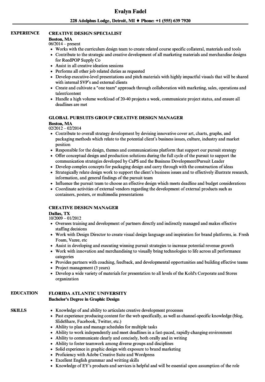 Download Creative Design Resume Sample As Image File  Creative Design Resume