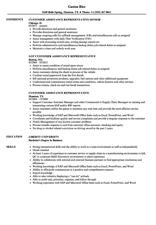 customer assistance representative resume samples velvet jobs