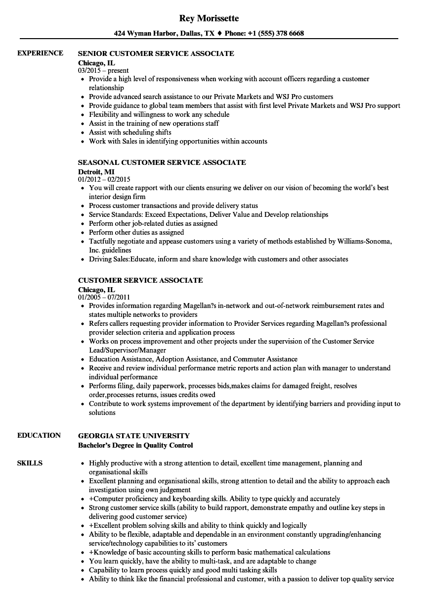 skills for customer service job resume