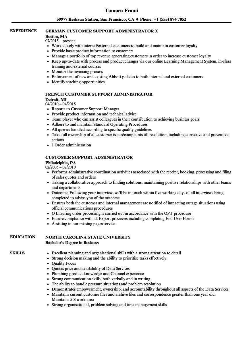 download customer support administrator resume sample as image file business support manager sample resume - Business Objects Resume Sample