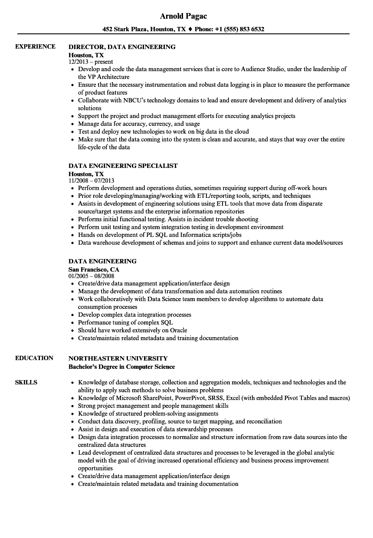 Data integration resume