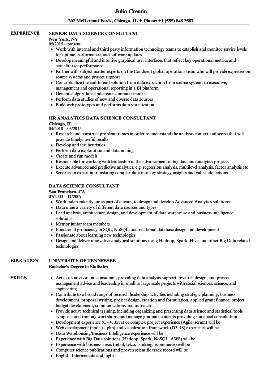 download data science consultant resume sample as image file - Data Science Resume Examples