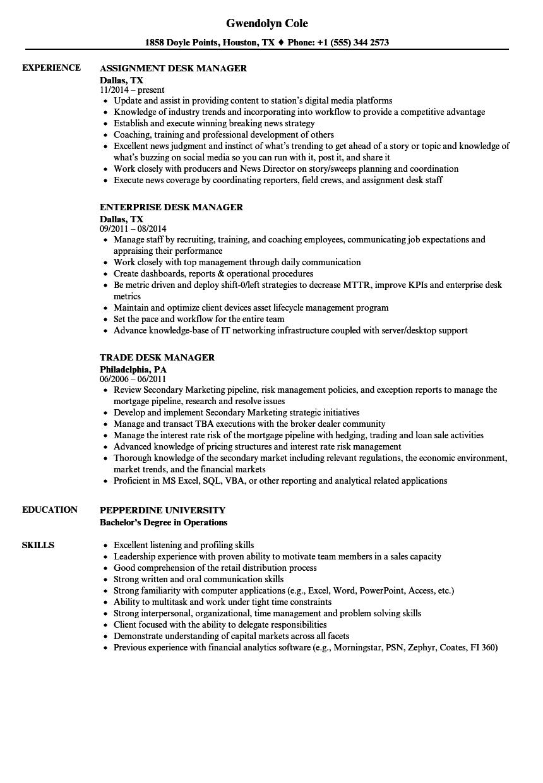 Download Desk Manager Resume Sample As Image File  Help Desk Manager Resume