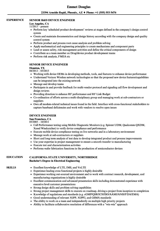 electrical engineer resume format