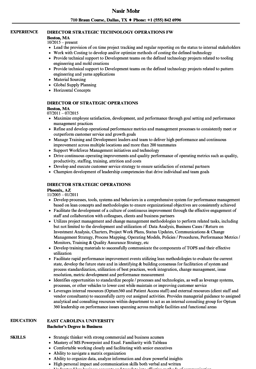 Download Director Strategic Operations Resume Sample As Image File  Director Of Operations Resume