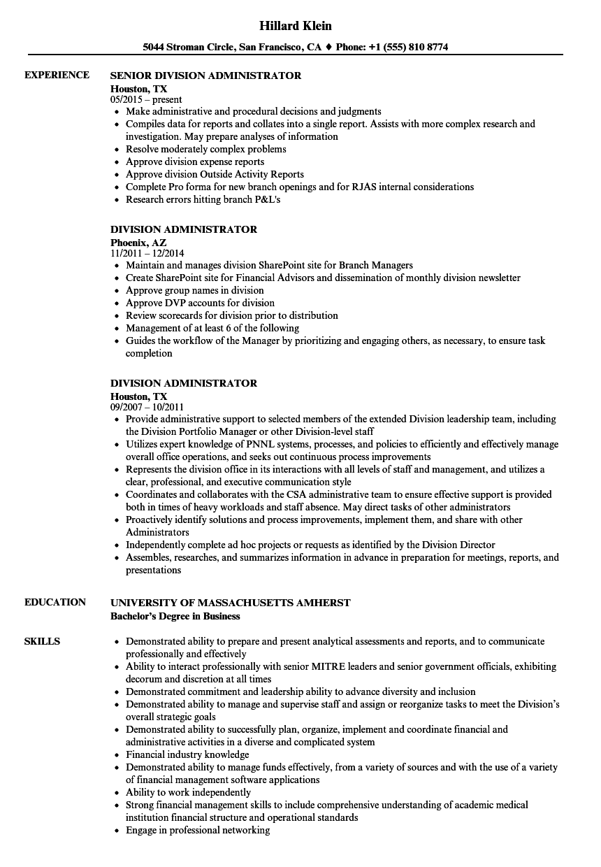 Download Division Administrator Resume Sample As Image File  Sharepoint Administrator Resume