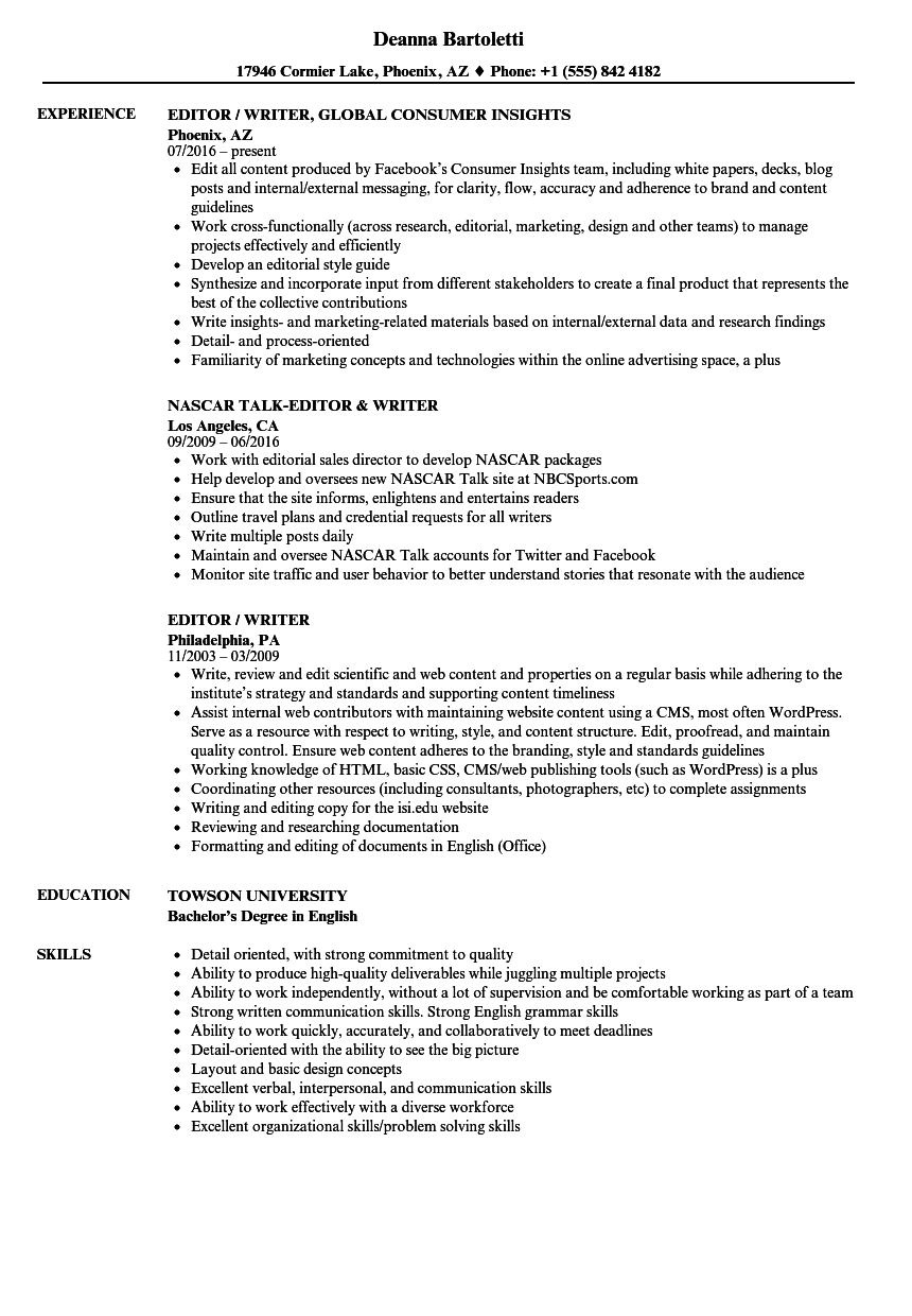 Communications Agency Experience Resume