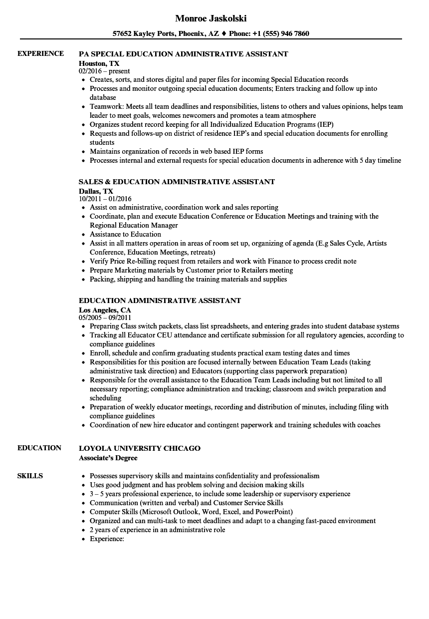 sample to make administrative assistant resume. what to write in ...