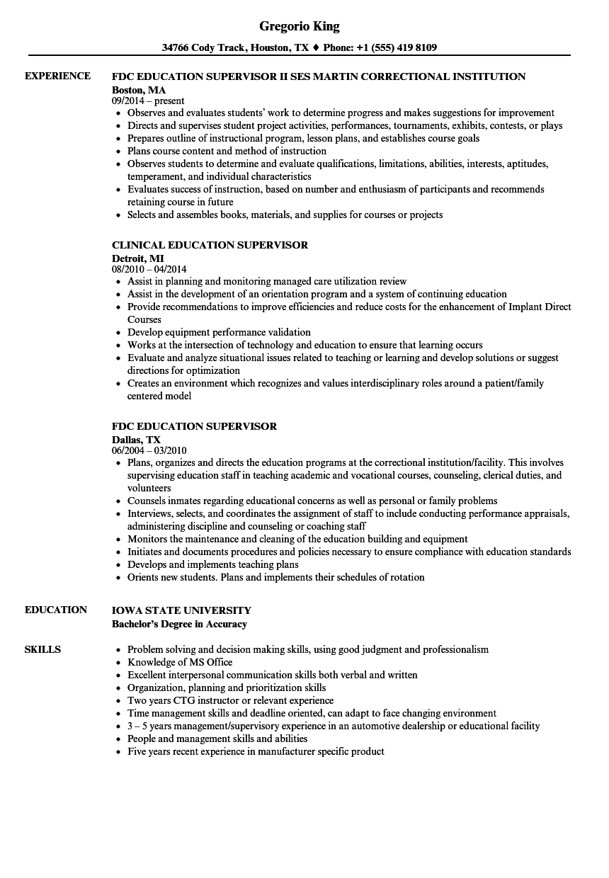 Education supervisor resume samples velvet jobs download education supervisor resume sample as image file 1betcityfo Gallery