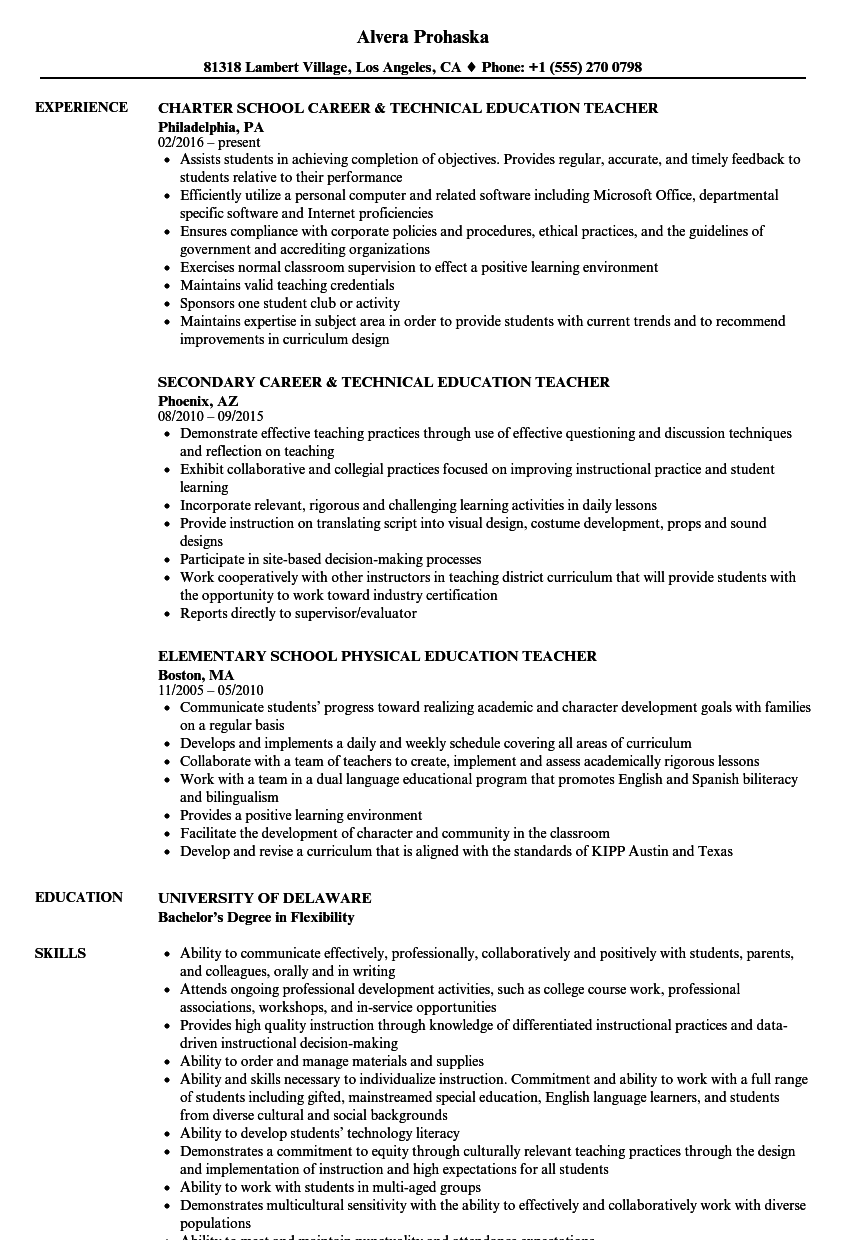 Education Teacher Resume Samples | Velvet Jobs