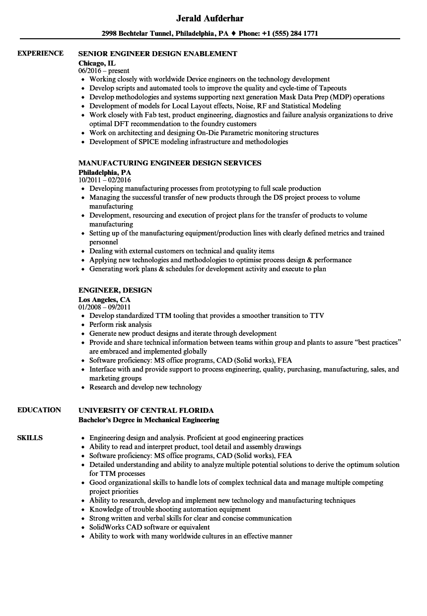 Engineer design resume samples velvet jobs for Wpf developer resume sample