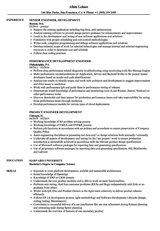 download engineer development resume sample as image file - Principal Test Engineer Sample Resume