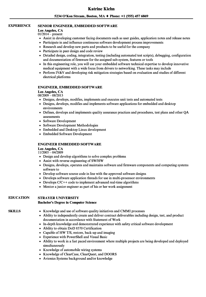 Download Engineer Embedded Software Resume Sample As Image File