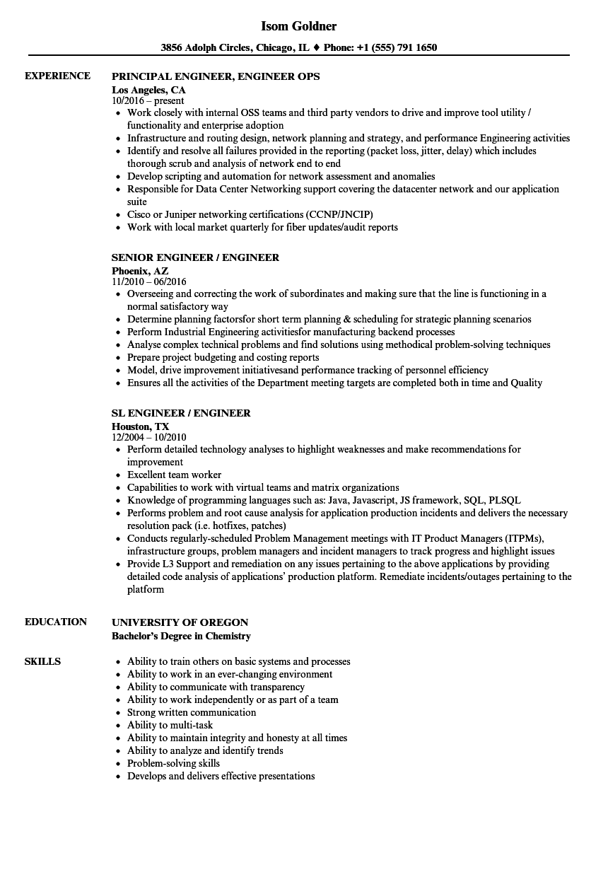 Download Engineer, / Engineer Resume Sample As Image File  Engineer Resume Examples