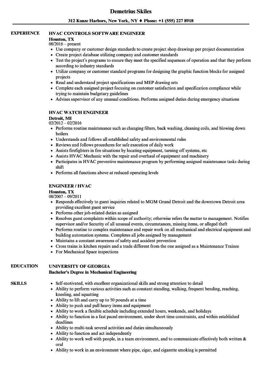 download engineer hvac resume sample as image file hvac resume samples - Hvac Resume Template