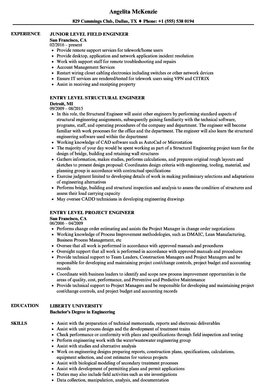 engineer level resume samples
