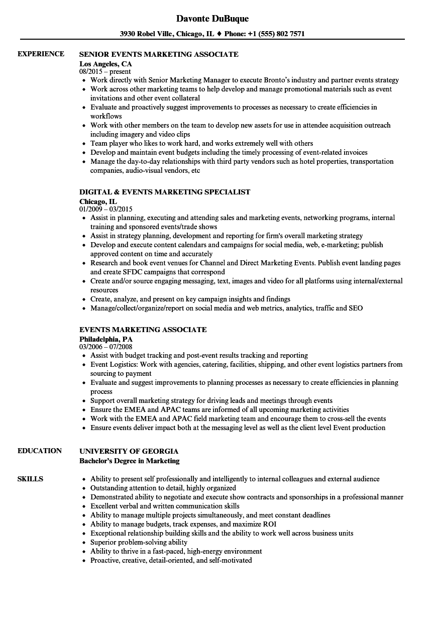 Marketing Coordinator With Three Years Experience Resume