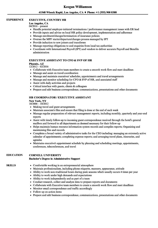 Executive HR Resume Samples | Velvet Jobs