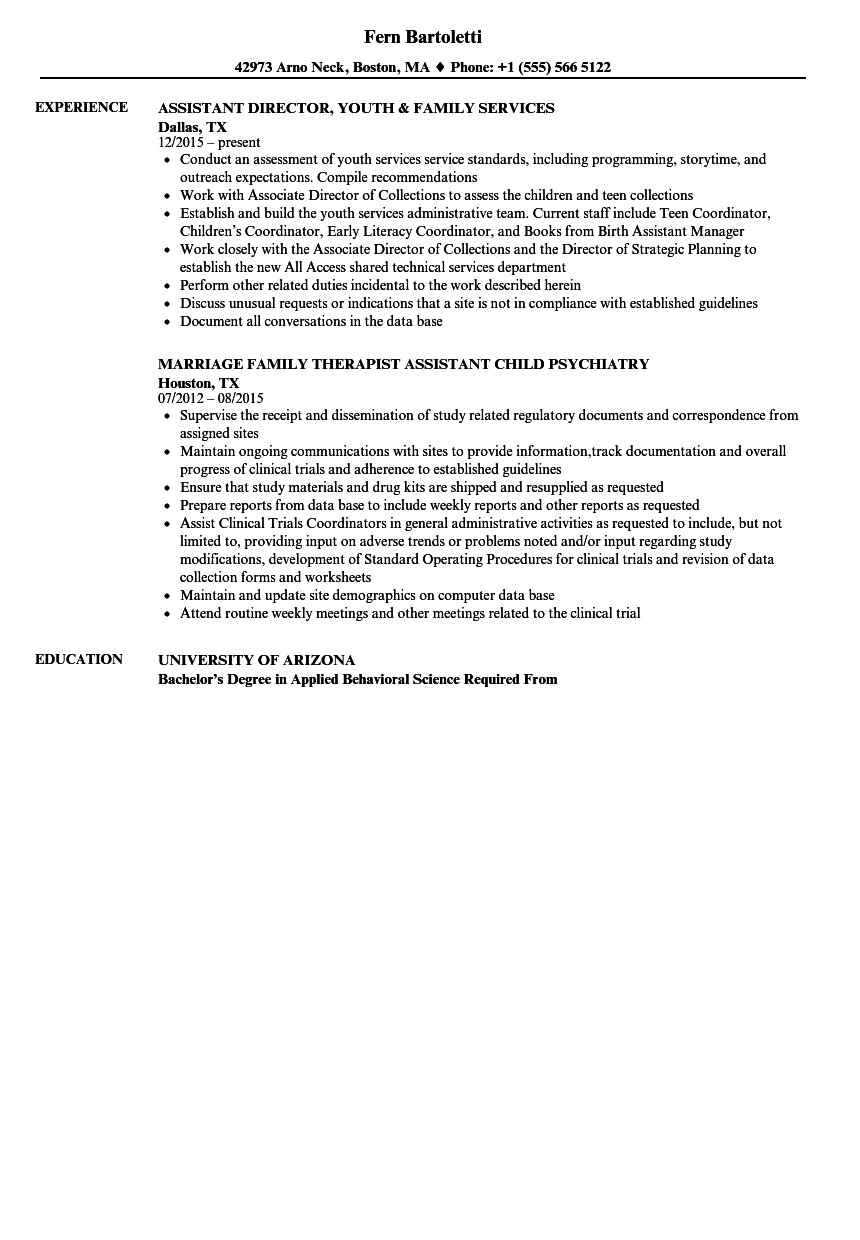Download Family Assistant Resume Sample As Image File  Background Investigator Resume