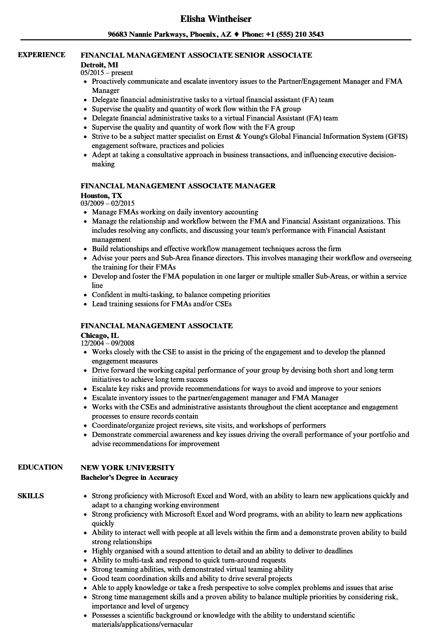 download financial management associate resume sample as image file