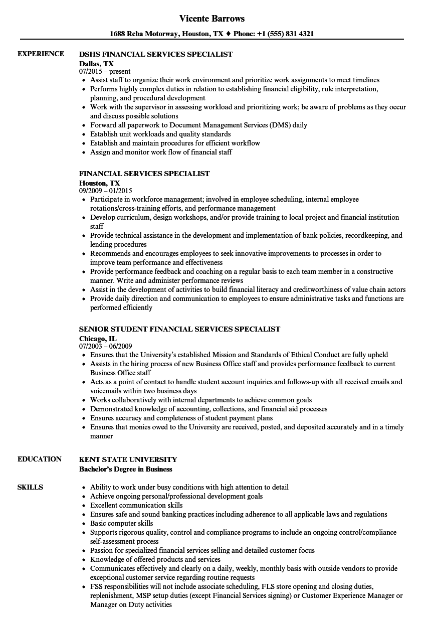 download financial services specialist resume sample as image file