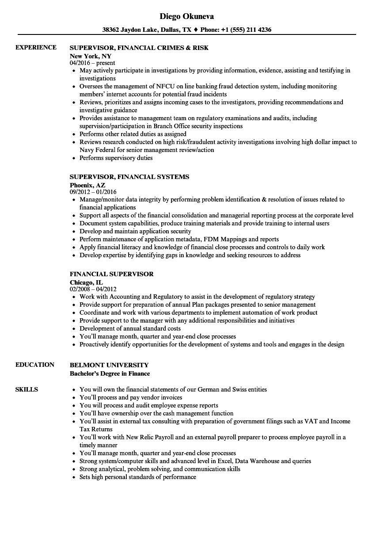 download financial supervisor resume sample as image file