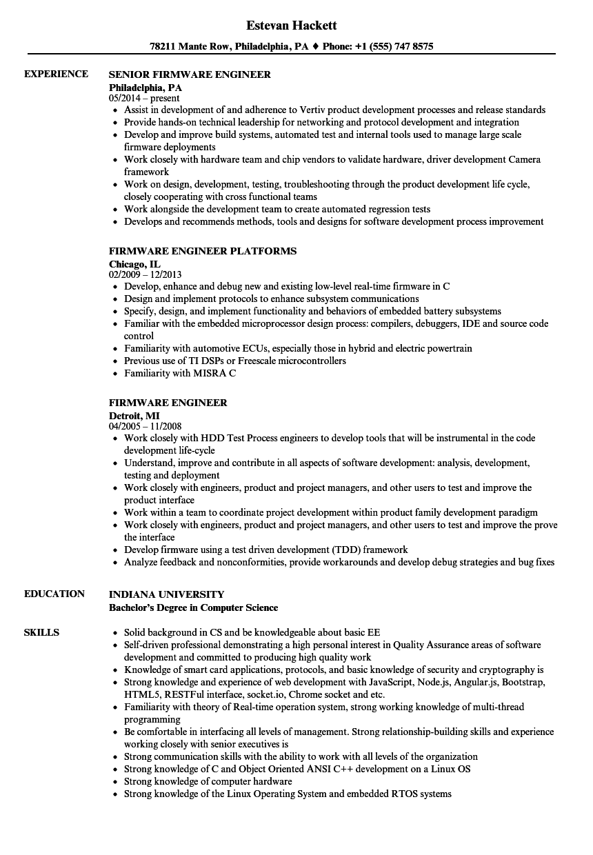 download firmware engineer resume sample as image file