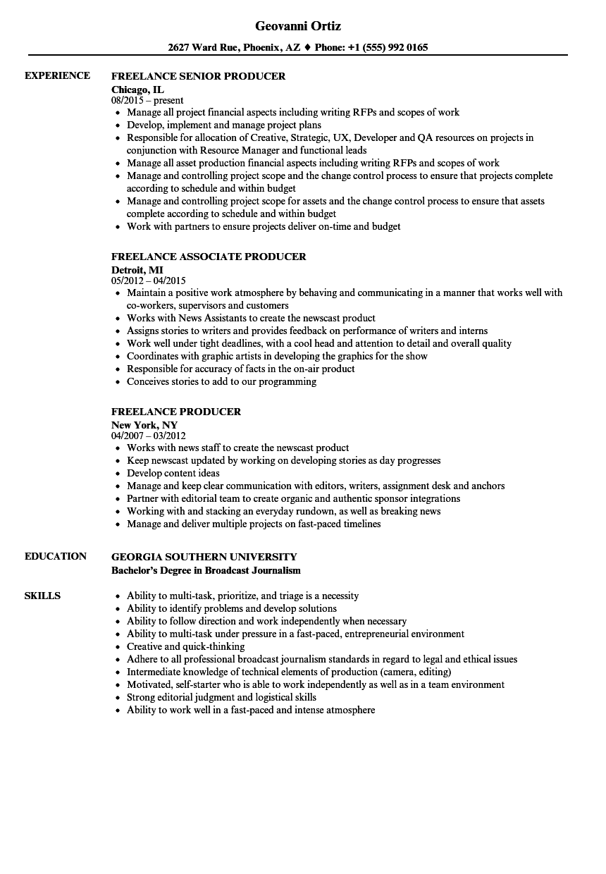 download freelance producer resume sample as image file digital content producer sample resume - Web Producer Resume