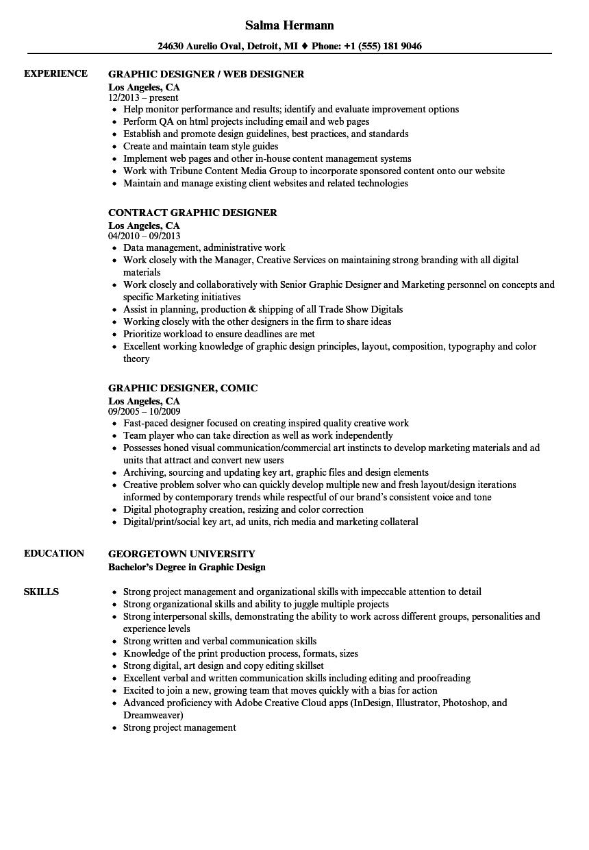 Resume For Web Designer
