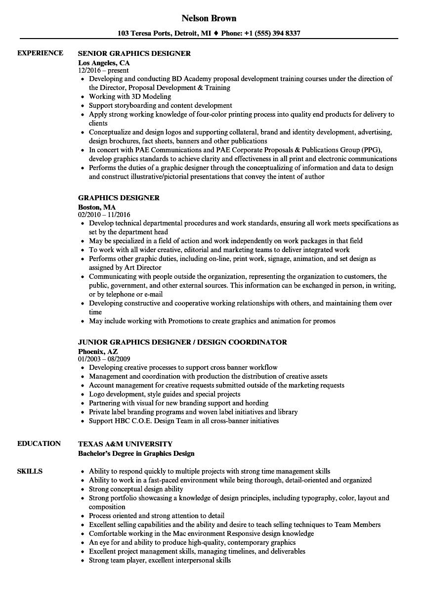 Senior Graphic Designer Resume Writing a Thesis Using MS Word ...