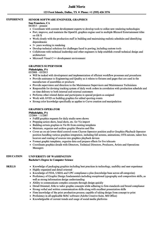 Graphics Resume Samples | Velvet Jobs