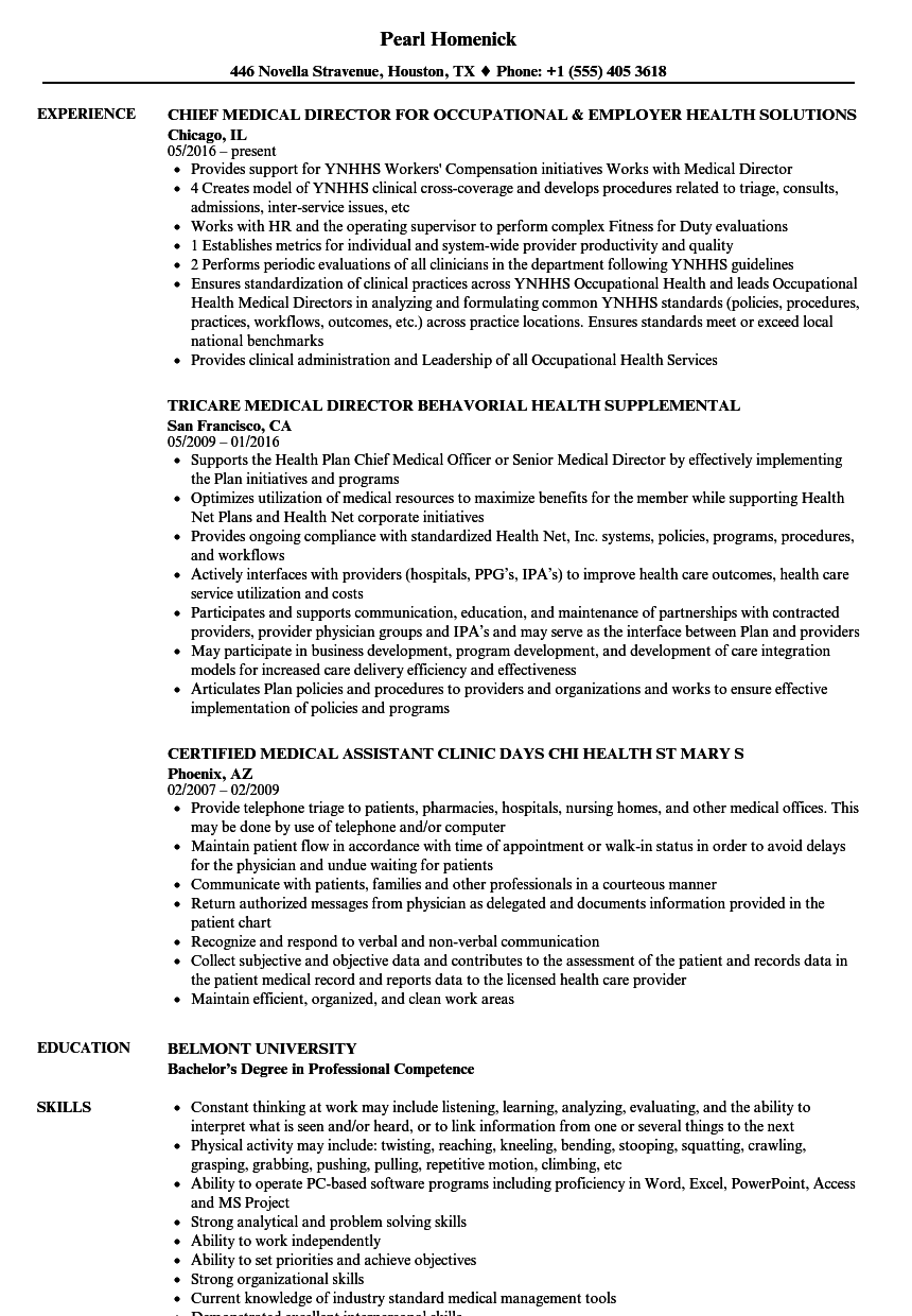 Download Health U0026 Medical Resume Sample As Image File  Medical Resume Examples