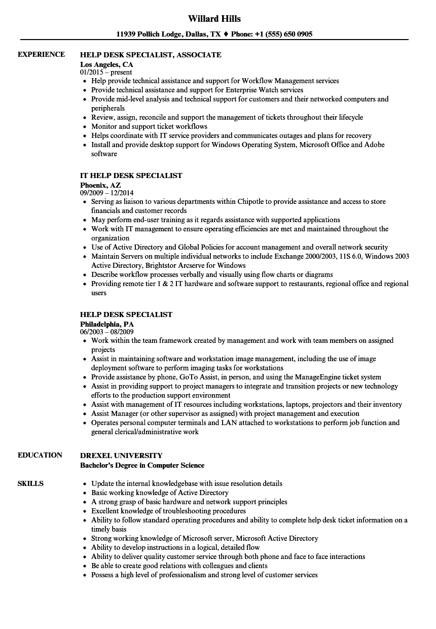 detailed chores allocated cv