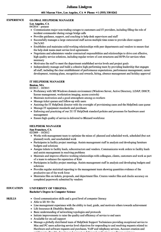 service desk job description pdf