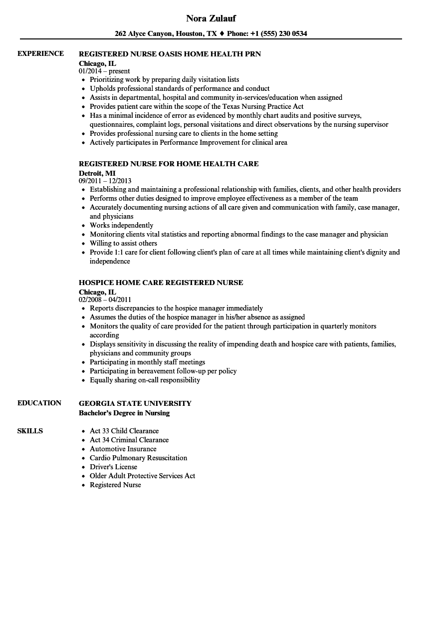 Home Home Registered Nurse Resume Samples Velvet Jobs