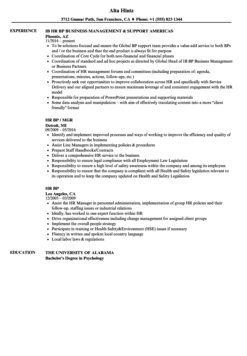 Resume Templates Entry Level Human Resource Administration Hr