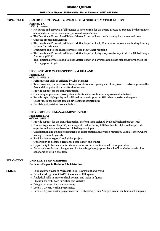 HR Expert Resume Samples   Velvet Jobs