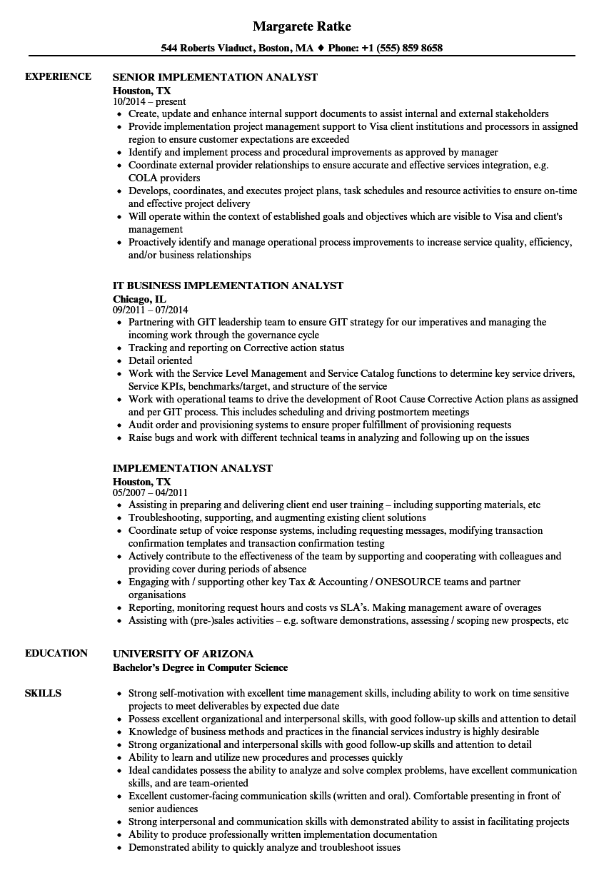 download implementation analyst resume sample as image file