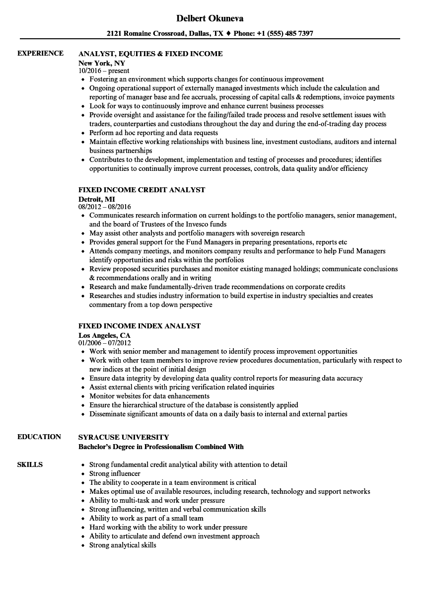 download income analyst resume sample as image file